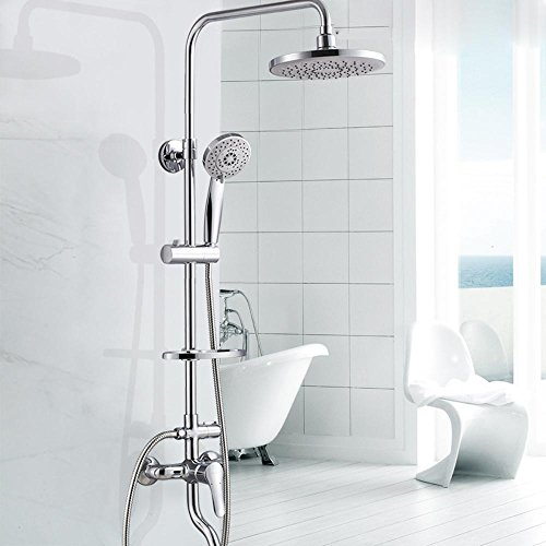 Modernes Haus Bad, Kupfer-Armatur, multifunktionale Handbrause, kreisförmige Dusche Kit heben ()