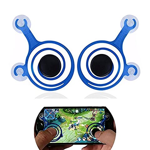 Universal Spiral Mini Joystick 2pc, Cocomii Master Gamepad NEW [Maximum Precision] Perfect Game Controller Rocker Joypad For All Smartphones Tablets iPhone iPad Androids [Mission Accomplished] (Blue)