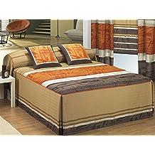 LaNovenaNube - Colcha edredón MIRFA cama 135 - Color Marrón
