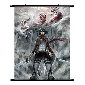 Attaque des Titans Shingeki no Kyojin (/) Anime Manga Poster en tissu (16 x 22 cm)