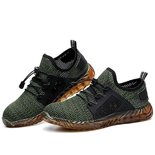 abcd266b892c26 2019 Chaussure de Sécurité Homme Femme été Baskets Chantiers Industrie  Chaussure de Travail Anti-Perçage