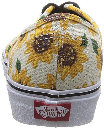 Vans U Authentic , Baskets mode mixte adulte Multicolore (True White)