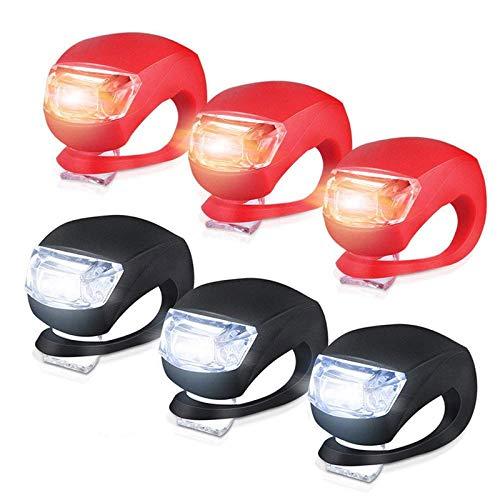 YIDAINLINE wasserdichte 3 Modus-Einstellung Ultra Bright LED 2 x CR2032-Batterien passend für alle Fahrräder, am Rucksack befestigt, Helm, Jacke