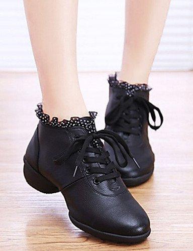 ShangYi Chaussures de danse ( Noir / Rouge / Blanc ) - Non Personnalisables - Talon Bottier - Similicuir -Latine / Baskets de Danse / Moderne / White