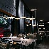 15W LED Äste Pendelleuchte Modern Design 5-Flammig Hängeleuchte Kronleuchter Wohnzimmer Esszimmer Esstisch Lampe Decke Beleuchtung Leuchte Acryl und Aluminium Weiß L85cm Dimmbar 3000K-6000K
