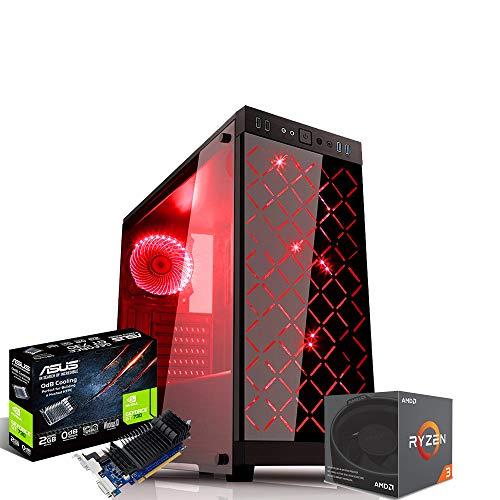 Pc gaming ryzen 3 1200 Cpu quadcore 3.40ghz asus/Hdd 1Tb / Ram 8gb Ddr4 / Full Hd/Hdmi - usb 3.0 / Wi Fi 300mbps Asus gt 730 2Gb Case Rgb con telecomando pannello in vetro temperato