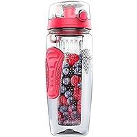 TOOGOO 1000 ml / 32 oz Fruit infusant infuseur bouteille d'eau en plastique Sports Detox sante noir