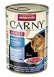 Animonda Carny Adult Katzen-/Nassfutter Rind und Kabeljau mit Petersilienwurzel für erwachsene Katzen, (6 x 400 g)