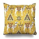 Pakaku Decorativepillows di Fodere per Cuscini per Divano/Letto 45,7x 45,7cm, Yellow Animal...