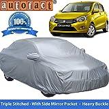 #5: Autofact Premium Silver Matty Triple Stitched Car Body Cover with Mirror Pocket for Maruti Celerio