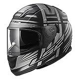 LS2Helm Motorrad FF320Stream Bang, matt black Titanium, L