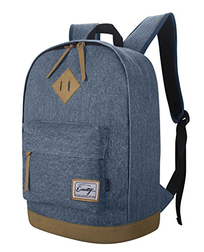 Imagen de ecocity clasico laptop backpack rucksack  escolar para portatil, azul alternativa