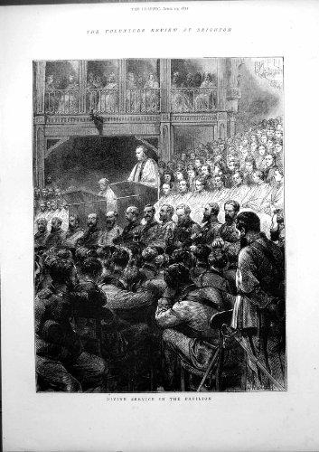 Freiwilliger Göttlicher Service-Pavillon 1872 Zusammenfassungs-Brightons