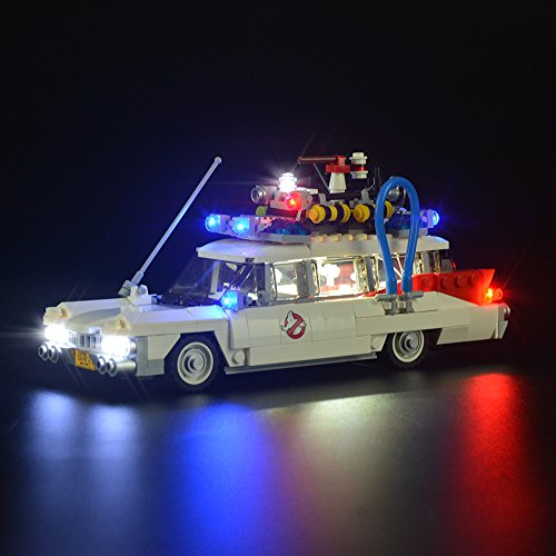 Conjunto de luces Lightailing para (Ghostbusters Ecto-1) Modelo de Construcción de Bloques - Kit de luz LED compatible con Lego 21108 (NO incluido en el modelo)