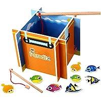 Peradix Gioco Pesca Magnetica Legno Giocattolo Intelligente