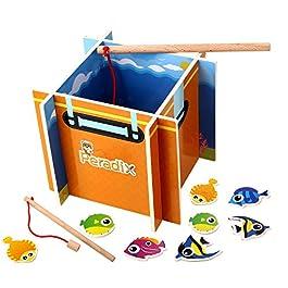 Offerta Lampo, Peradix Gioco Pesca Magnetica Legno Giocattolo Intelligente