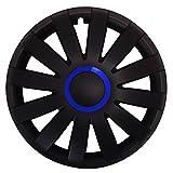 (Größe & Farbe wählbar) 13 Zoll Radkappen RACE (Blau) passend für fast alle Fahrzeugtypen - universal