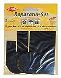 Kleiber 5-er Set selbstklebende Ausbesserungsflicken für Bekleidung aus Nylon, schwarz