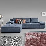 Moebella® Ecksofa mit Schlaffunktion und Bettkasten XXL Baldo Designer Schlafcouch Sofa Bettfunktion (Spiegelverkehrt)