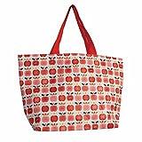 LS Design XL Öko Jumbo Shopper Einkaufstasche recycled Strandtasche Schultertasche Obst 60x20x37cm