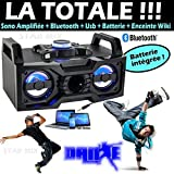 Danse enceinte sono portable usb bluetooth batterie + mini derby 6 couleurs + cable pc - pa sono dj led ideal cadeau - soiree enfant - noël zumba sport fitness