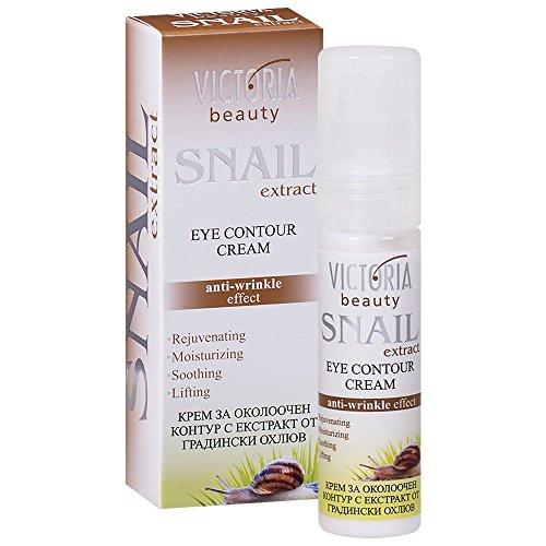 Victoria Beauty – Anti-Falten Augenkonturencreme mit Schnecken-Extrakt – Gesichtscreme mit Schneckenschleim – Augencreme mit Anti-Aging Wirkung (1 x 30 ml) – gegen Falten und dunkle Augenringe