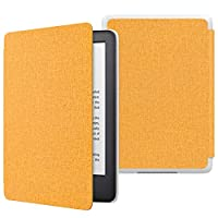 MoKo Case Fits All-New Kindle (10th Generation - 2019 Release Only), Thinnest Protective Shell Cover with Auto Wake/Sleep, Will Not Fit Kindle Paperwhite 10th Generation 2018 - Denim Yellow