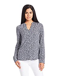 Tommy Hilfiger Womens Body Blouse Shirt (A6AWW026_Blue_8)