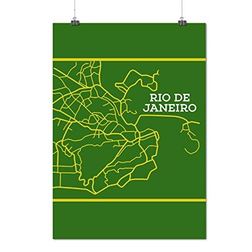 Rio de Janeiro Mode Brasilien Stadt Mattes/Glänzende Plakat A3 (42cm x 30cm) | Wellcoda