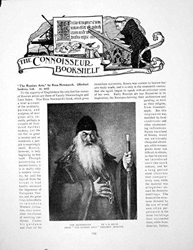 Drucken Sie Bücherregal-Russische Künste das Erzdiakon-IE Repin 1 Seite 1916 245Q145