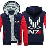 N7 Hoodie Spiel Effect Kapuzenpullover Cosplay Kostüm Dick Mantel Herren Jacke Erwachsene Hooded Sweatshirt Kleidung