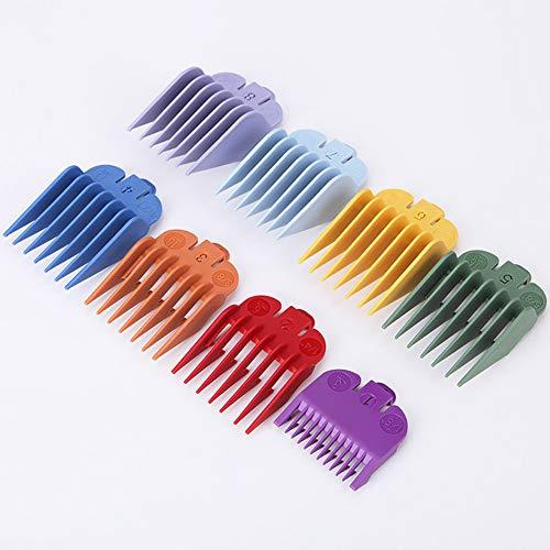 Beito 8 Guías de corte codificadas para el cabello de color Accesorios para el corte de peines del peine del cabello Herramienta de peinado para estilistas y peluqueros
