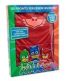Giochi Preziosi- Super Pigiamini PJ Masks Costume Carnevale Gufetta, Taglia 3/4 Anni per Bambini, PJA02100