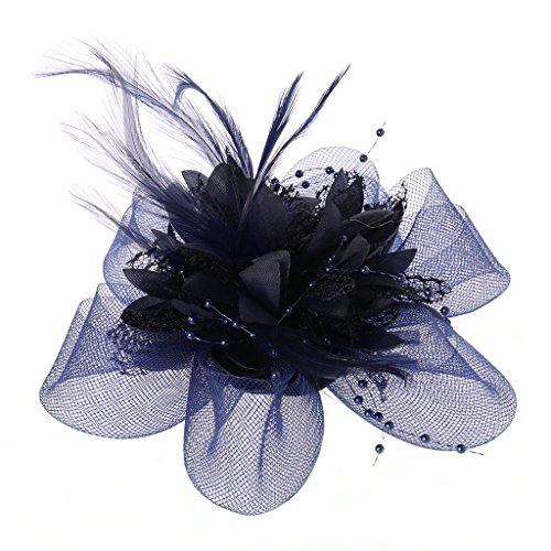 yasheep Damen Fascinator Haar Clip Reifen, elegant Blume -