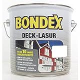 Bondex Deck-Lasur, Polarweiß, 2,5 l, deckende Holzlasur für Holz in Aussenbereich