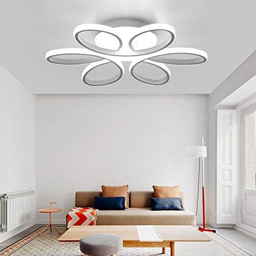 NACHEN LED Deckenbeleuchtung mit Fernbedienung Licht Warm Kreative Wohnzimmer Licht Persönlichkeit geformt Moderne einfache Lampe,Neutrallight,74cm -