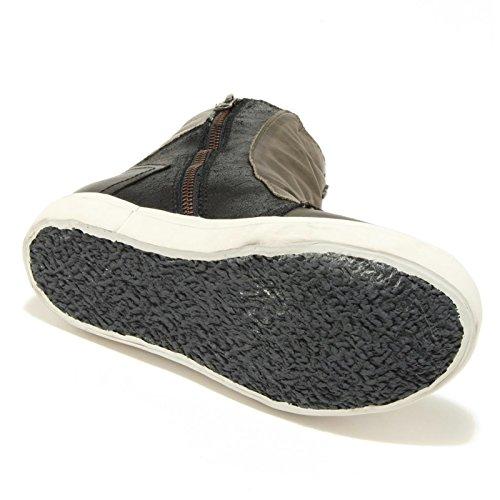 0794G sneaker alta verde militare nero CRIME scarpa donna shoes women Nero/Verde