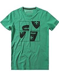 Strellson Sportswear Herren T-Shirt Modisch, Größe: M, Farbe: Grün