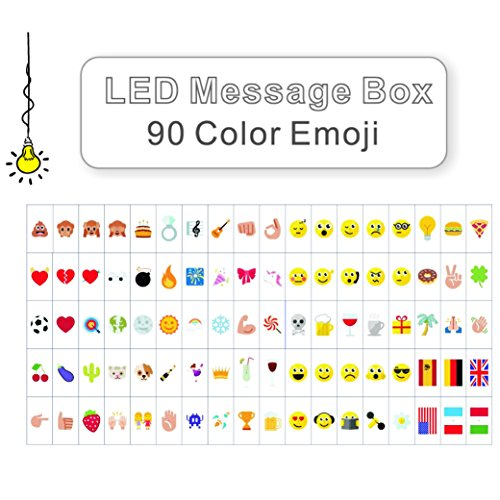 LitEnergy Cinema Sign Inklusive 90 Pastellfarben Emojis und spezielle dekorative Symbole für die Verwendung mit A4 Cinematic Lightbox
