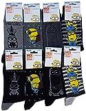 les minions -  Calze  - Uomo multicolore Pack de 6 asst1
