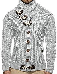 Ibelive Hommes épais Manteau Pull à col roulé en Cachemire Cardigan Male  Wear Laine marée Revers 5e6b256e2f0