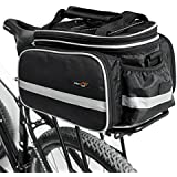 Disc-nan Outdoor Multi-function Portable Bicycle Pack Bike Pannier Rear Seat Trunk Bag with Rainproof Cover