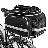 Disc-nan - Sacca portatile multifunzione da bicicletta, per portapacchi, con copertura antipioggia, Black