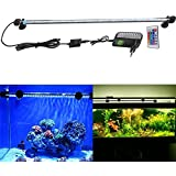 FVTLED Cambia color Lámpara de acuario 8W 62CM 33 luces SMD5050 LED Lampara Tira Pecera Sumergible