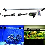 FVTLED Cambia color Lámpara de acuario 8W 62CM 33 luces SMD5050 LED Lampara Tira Pecera Sumergible...