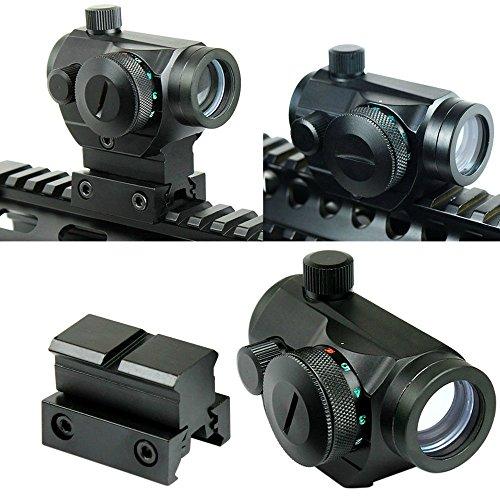 Lunettes de visée Tactical Reflex Red Green Dot Sight Portée w / Dual High / Low Profile Rail Mount Airsoft Chasse