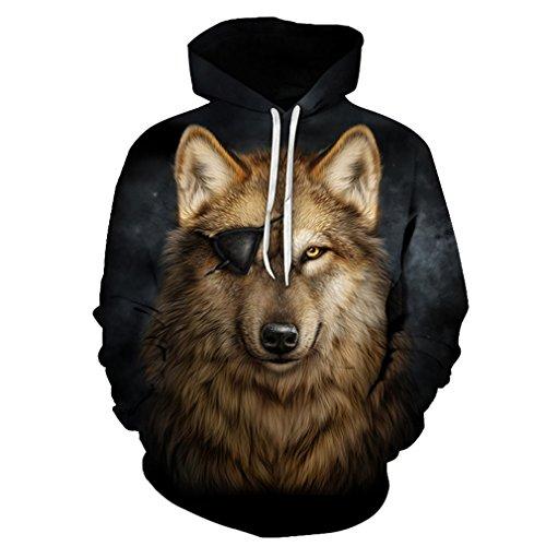 Galaxy Wolf gedruckten 3D Männer Marke Hoodie Hot Sale Unisex Sweathsirts Herbst 6XL Pullover Mode Trainingsanzug Jungen Jacken LMS 158 L (Lion Jacke Kinder)