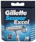 Gillette Sensor Excel Rasierklingen, 10 Stück