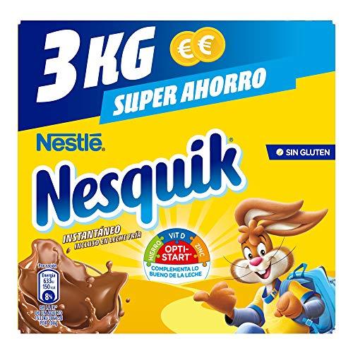 Nestlé Nesquik Cacao Soluble Instantáneo - Estuche 4 x 3 kg