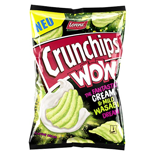 Lorenz Snack World Crunchips WOW Cream & Mild Wasabi, 10er Pack (10 x 110 g)